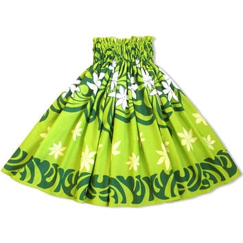 pali green single hawaiian pa'u hula skirt