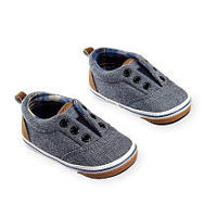 Koala Baby Boys Denim Soft Sole Slide On Shoes