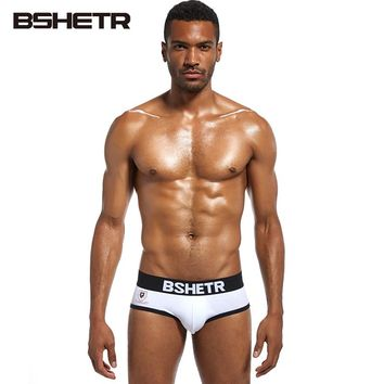 4 Pcs/lot BSHETR Brand Cotton Underwear Men Slip Underpants Homewear Briefs Soft Male Panties Quick Dry Pants For Gay Man Cueca