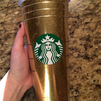 Starbucks Glitter Cup or Tumbler 24 oz Venti with Fine Glitter