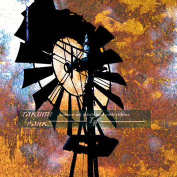 Windmill Decor, Art Print, Home Decor, Midwest Art, Modern Wall Decor, Farm Decor, Living Room Wall Art, Signed and Numbered Art Print