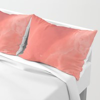 Coral gradient Pillow Sham by duckyb