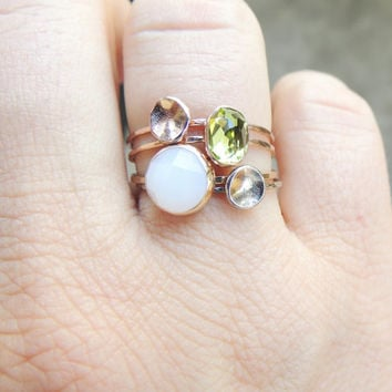 Gold Nugget Ring, Gold Pebble Ring, Skinny Ring, Delicate Gold Ring, Rose Gold Ring, 14k Gold Ring, Stacking Ring, Stackable Ring,White Gold
