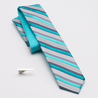 Apt. 9 Sheep's Meadow Reversible Skinny Tie & Tie Bar - Men, Size: One