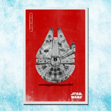 Star Wars Force Episode 1 2 3 4 5  The Last Jedi Episode VIII Movie Art Silk Canvas Poster 13x20 24x36 inch Picture For Room Decor-3 AT_72_6