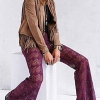 Band Of Gypsies Crochet Flare Pant-