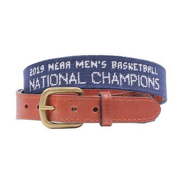 University of Virginia 2019 NCAA Basketball Champions Needlepoint Belt by Smathers & Branson