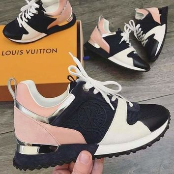 ''Louis Vuitton''LV Sneakers woman Fashion casual shoes B Black/White/Pink