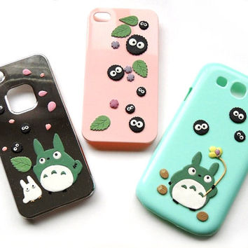 Unique iPhone 5 Case - Totoro and soots / Calcifer / Kodama - Made to Order