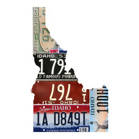 Idaho License Plate wall decal