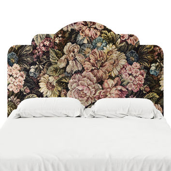 Victorian Floral Headboard Decal
