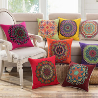 2016 Classic vintage Mediterranean Style Cushion Cotton and Linen Pillows Decorative Throw Pillowcase Home Use Pillows Dec003