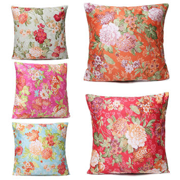 45X45cm Floral Printing Cushion Cover Throw Pillow Case Home Sofa Bed Decorative Pillow Cover
