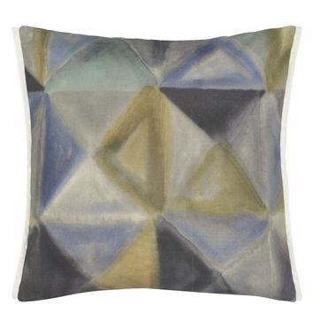 Designers Guild Bougival Outdoor Zinc Decorative Pillow