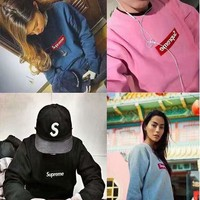 Couple Autumn Round-neck Pullover Hoodies [11923128339]