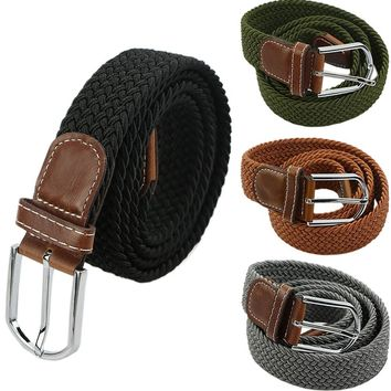 *online exclusive* men's braided belt w/ leather buckle