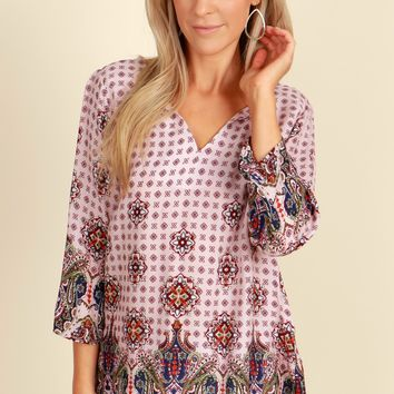 Very Merry Printed Blouse Pink