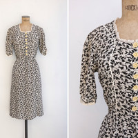 1930s Dress - Vintage 30s Day Dress - Isabella Dress