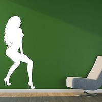 Wall Vinyl Sticker Decal Posture Sexy Girl's Dance Beautiful Hair  Unique Gift (n159)