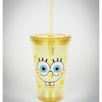 SpongeBob 'Big Teeth' 8 oz. Cup with Straw