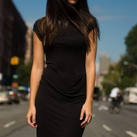 In Charge In Style Short Sleeve Midi Dress - Black from A Ellen at Lucky 21