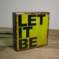 The Beatles Music Art Block Painting Let It Be 1197 by MatchBlox