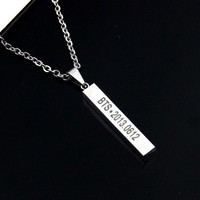 Bangtan Boys Kpop BTS steel LONG NECKLACE NEW JUNG KOOK JIMIN
