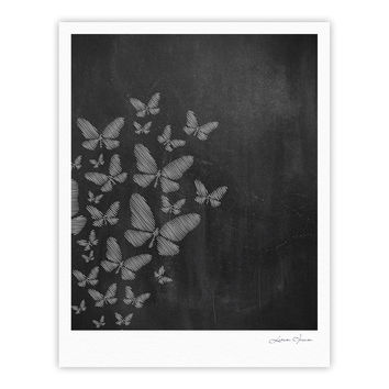 "Snap Studio ""Butterflies IV"" White Chalk Fine Art Gallery Print"