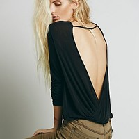 Free People Womens Back Together Tee