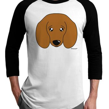 Cute Doxie Dachshund Dog Adult Raglan Shirt by TooLoud