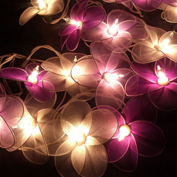 Shop pink flower string lights on wanelo pink and white flower string lights mightylinksfo