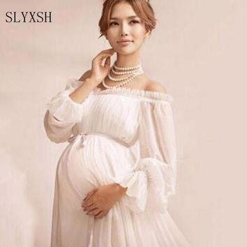 Elegant lace dress Maternity photography props Long dress maternity clothes Pregnancy Fantasy Photo Shoot props hamile elbise