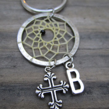 Custom Cross Dream Catcher Keychain