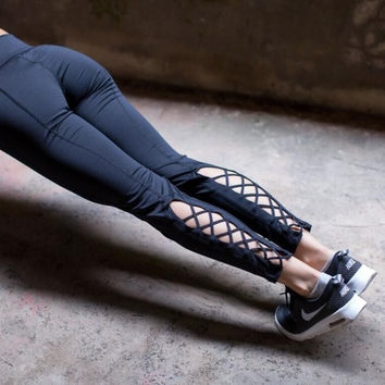 Criss Cross Yoga Leggings