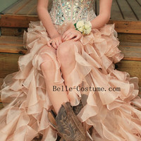 Custom-made Prom Dresses, Prom Dresses 2016, Strapless Prom Dresses