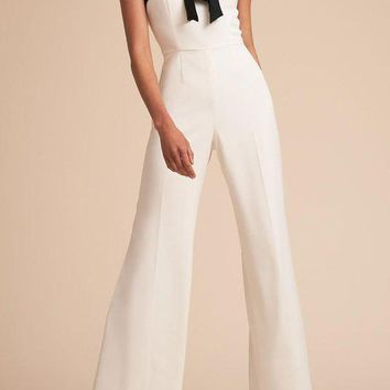 Chicoth Sexy Color-block Halter Jumpsuit