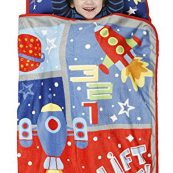 Baby Boom Toddler Nap Mat, Space Lift Off