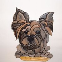 This Yorkie will steal your Heart, wood sculptured wall art,