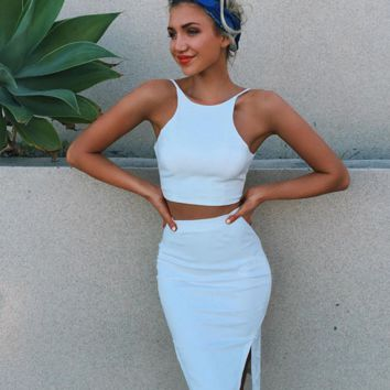 HOT TWO PIECE WHITE DRESS