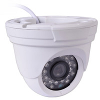 1/3 Sony Sensor 1000 Line Color CCTV Infrared Night Vision Dome Surveillance Camera (White) - A-CMM02