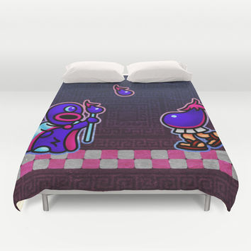 Eggplant Man Duvet Cover by Likelikes