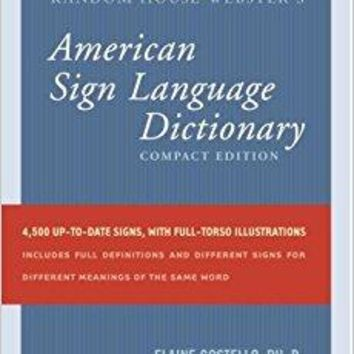 Random House Webster's Compact American Sign Language Dictionary 3 Compact