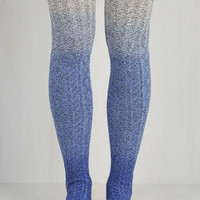 Carte Banff Thigh Highs in Blue Ombre Size OS by ModCloth