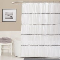 Twinkle 72-Inch x 72-Inch Shower Curtain in White