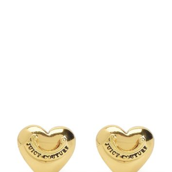 Puffed Heart Stud Earring by Juicy Couture