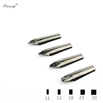 5 PCS/ S Calligraphy Parallel Italian Gothic Ansel Rabic Western Middle Eastern Tibetan Special Font Art Pen Nib
