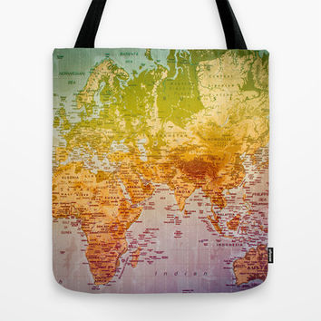 Colorful World Tote Bag by Sandy Broenimann