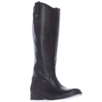 FRYE Melissa Button Extended Calf Boots, Black, 7.5 US
