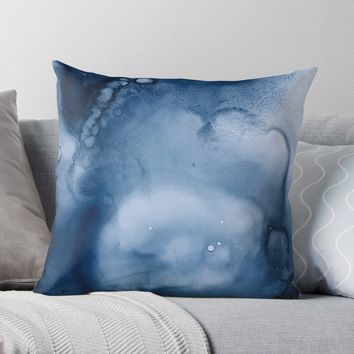 'the blues' Throw Pillow by DuckyB