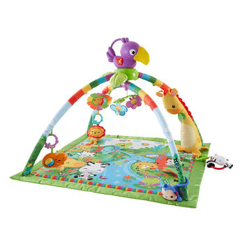 Fisher-Price Rainforest Music and Lights Deluxe Gym Playset
